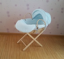 Blue Dimple Moses basket fabric/basket cover