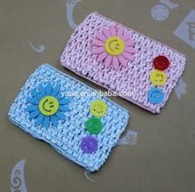 Crochet headband with flower baby headband