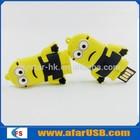 New design push pull usb flash drive minions cartoon 2. 0 usb flash memory