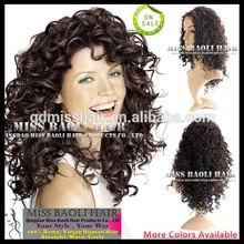2015 Trendy Styles Qingdao Miss Baoli Wholesale Price 100% Intact Cuticles Human Hair Kinky Curly Wig For Black Women