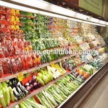 supermarket cast food grade pvc cling film plastic packaging film