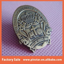 China wholesale hot new products for 2015 custom high quality metal royal crown badge emblem