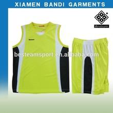 FASHION! 100% polyester new design basketball uniform STA-99