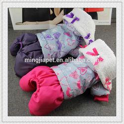 lamb fleece collar dog clothes winter with four feet