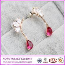 Wholesale high quality earrings Micro fine inlay zircon drop earrings