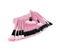 professional pink 32 pieces cosmetic makeup brushes set,make up tools