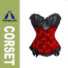 Black Lace Bodice Hottest Red Bra Padde Corset