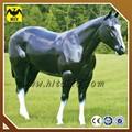 De fibra de vidrio decoración del jardín negro modelo de caballo