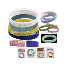 2015 high quality fashion customized bracelet silicone / silicone slap bracelet