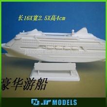 Plastic miniature tank ship model for premises exhibition