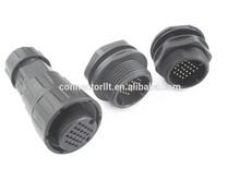 China Factory IP67 Box Mount Waterproof 24 pin connector