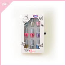 Hot sale best cheap nail polish heart design real nail polish patch