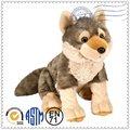 mejor venta de productos de peluche de felpa marrón juguete lobo
