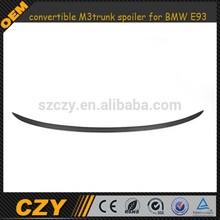 E93 convertible M3 style carbon fiber trunk spoiler for BMW E93 07-13