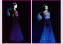 Glowing fiber optical fabric custom printed wedding dress garment bags online sale