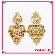 WENS Hollow Out Alloy Elegant Leaf Shape Women Earrings designs