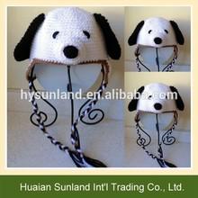 W-919 children baby dog photography hat crochet ear flap puppy dog beanie