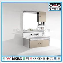 2013 Italian design mirrored Stainless Steel bathroom vanity storage
