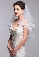 10 Pieces Wholesale Two-layer Lace Velo Novia Largo White/Ivory Women Wedding Veils