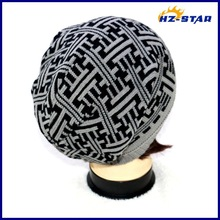 HZM-14077004 acrylic jacquard minion beanie acrylic printed kids winter baby hat pattern