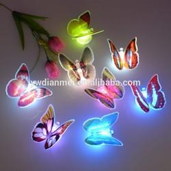 led light butterfly refrigerator magnet,pvc fridge magnet