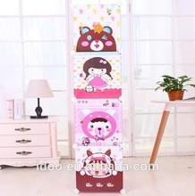 DIY 4 doors colorful wardrobes folding baby wardrobe kids furniture closet FH-AL0017-4