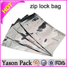 YASON colored ziplock reclosable bags custom printed fish lure ziplock bags clear zipper ag