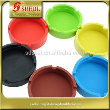 Set of 6 Colors -Eco-Friendly Colorfull Premium Silicone Rubber High Temperature Heat Resistant Round Design Ashtray