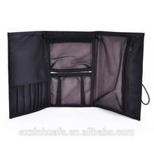 folding makeup brush bag for woman, toiletry makeup bag
