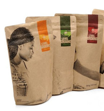 Kraft paper packaging bags for 600g for coffee in new year