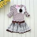 100% baumwolle mädchen lange kleider für kinder