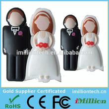 2015 new design! wedding usb flash bride & groom usb stick