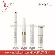 Top quality empty cosmetic packagings aluminium mascara case