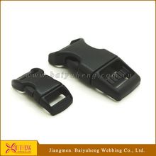 black plastic side release buckle for paracord bracelet