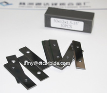 Top quality 3-hole tungsten carbide blades for cutting film with great price