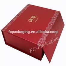 Flip Paper Wine Gift Boxes Satin Liner