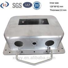 Custom deep drawing press metal enclosures for electronics