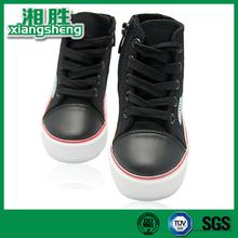 High Heel Zipper Shoelace Black Women Wholesale Canvas Shoes
