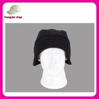 top sale paypal accept polar fleece winter hats fashion black fleece beanie hat with earflaps