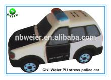 12.5x6x6.5cm PU toy foam police car stress ball/soft toy PU stress police car for kids&adults/soft gifts PU foam police car type