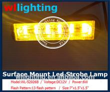 Super bightness DC12V LINEAR 6W surface mounting led lighthead ,Led strobe headlights,Grilles lights,