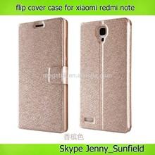 Phone case Super slim flip cover case for xiaomi redmi note, for xiaomi case