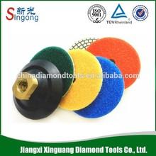 80mm Diamond Metal Pad For Concrete Segment 8.0mm Marble Lippage Pad Grit 30# 50# 100#