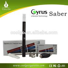 Newest Best!!! Cyrus saber battery electronic cigarette bubbler pipe