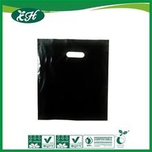 biodegradable reinforced pouch hole plastic carrier die cut handle bag