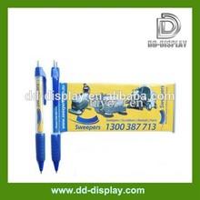 pull out promotional plastic banner pen, wholesale banner pen