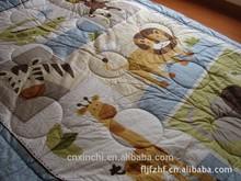 Luxury embroidery animals baby comforter set