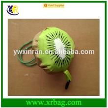 factory provide kiwi fruit shaped folding shopping bag