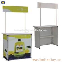 Cheaper Aluminum profile promotion table, promotion desk for advertising