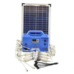 Home Solar Energy Generator With Double Solar Panel For Indoor Lighting Use